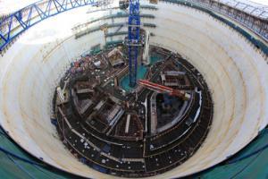 福清核电6号机组内部结构16.5米平台砼浇筑完成