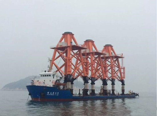 广东省首个海上风电项目完成基础结构施工