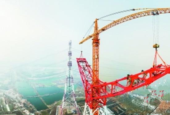 """""""世界第一特高压""""长江大跨越杆塔在皖封顶"""