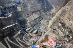 世界第二大水电站白鹤滩工程建设如火如荼