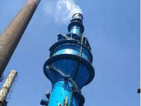 安源钢铁福斯—湿法烟气脱硫工程顺利通烟