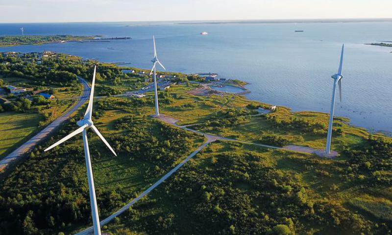 时间表:Eesti Energia将大型风力发电机推向了风力发电机组