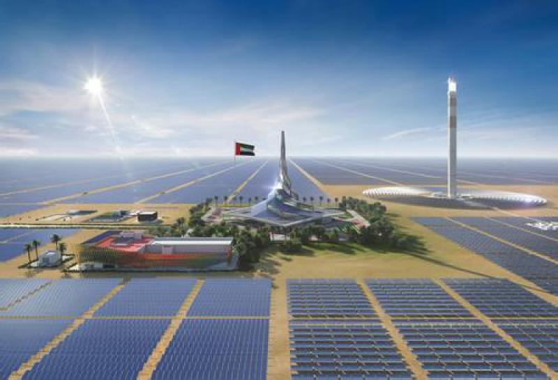 阿联酋正在努力建设世界上最大的太阳能发电综合体