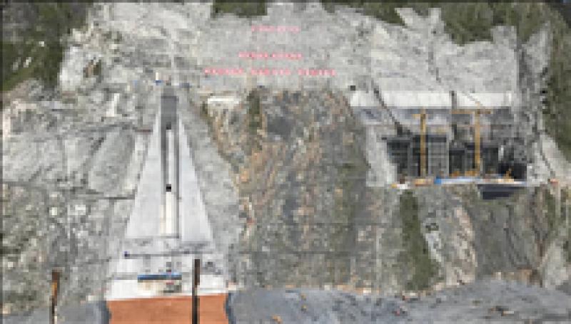 两河口水电站大坝心墙右岸盖板混凝土浇筑完成