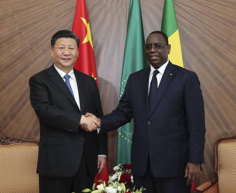 """中国同塞内加尔签署""""一带一路""""合作文件"""