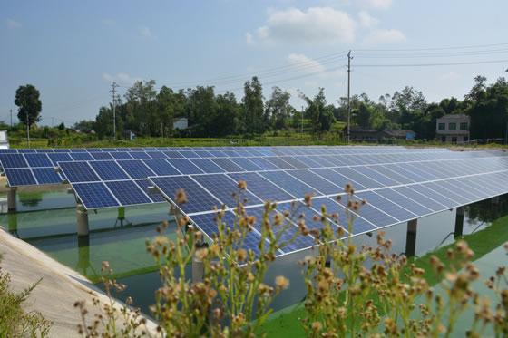重庆市梁平区礼让镇首个渔业光伏发电项目建成将投用