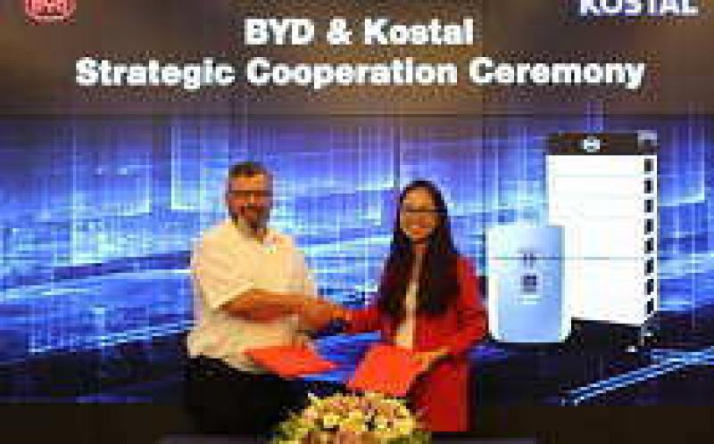 比亚迪,Kostal宣布与储能合作伙伴关系