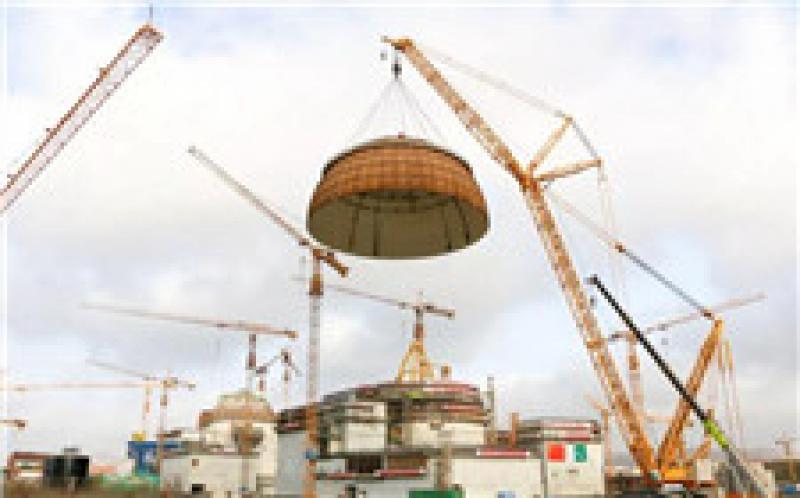 海外华龙一号卡拉奇3号机组核岛成功实现穹顶吊装