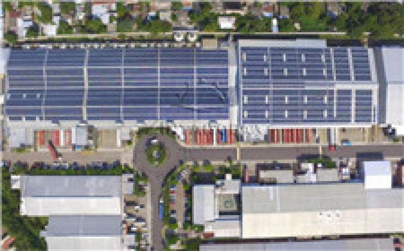 安泰为中美洲屋面太阳能电站提供无导轨支架解决方案