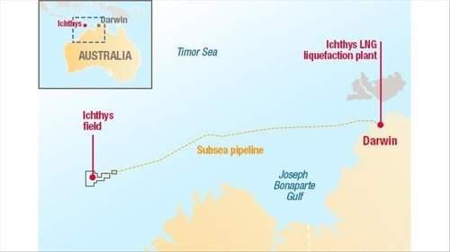道达尔在澳大利亚的Ichthys液化天然气项目开始出口