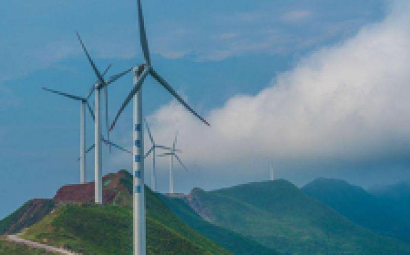 灵丘县移民新村用风电供暖