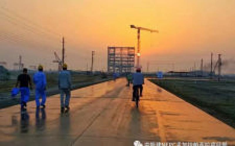 孟加拉国总理到中国能建北方建投东电一公司EPC总承包的孟加拉最大的燃煤电站项目视察。